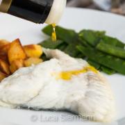 Fischmenü zum weißen Châteauneuf
